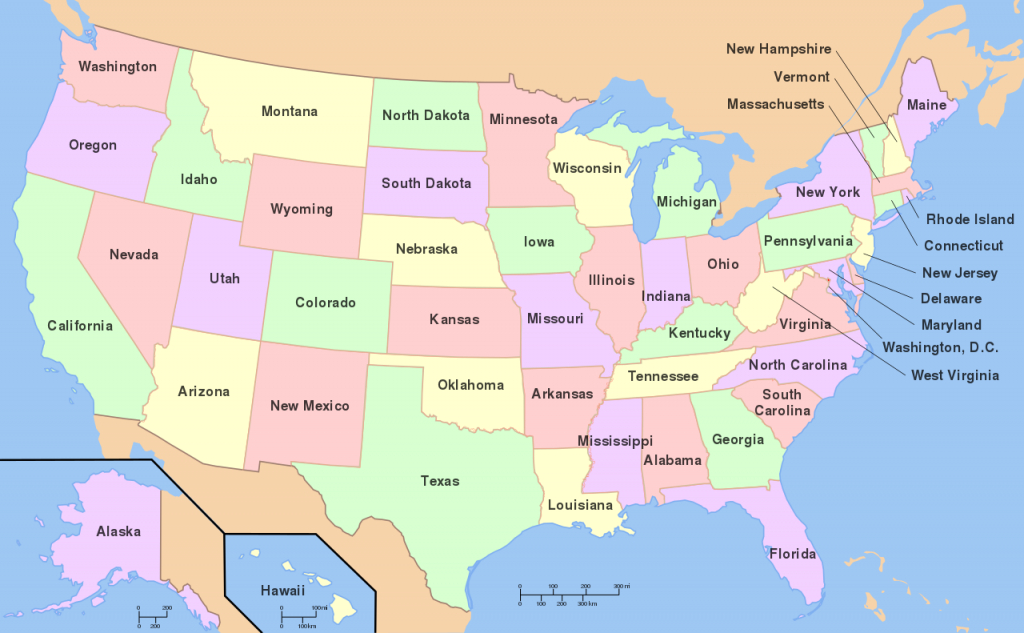 File:map Of Usa With State Names.svg - Wikimedia Commons   Printable Clear Map Of The United States