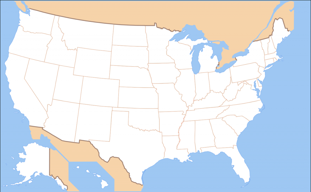 File:map Of Usa Without State Names.svg - Wikimedia Commons | Map Of The United States Without The Names Printable