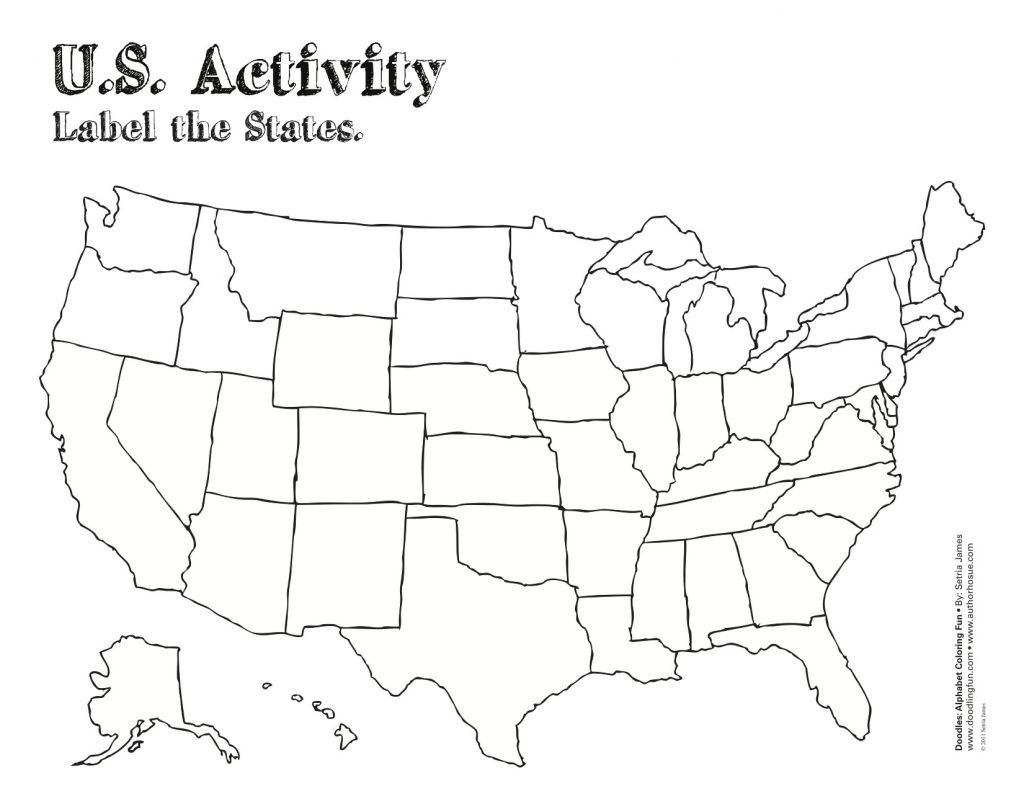 It's just an image of Selective Printable Map of the United States of America