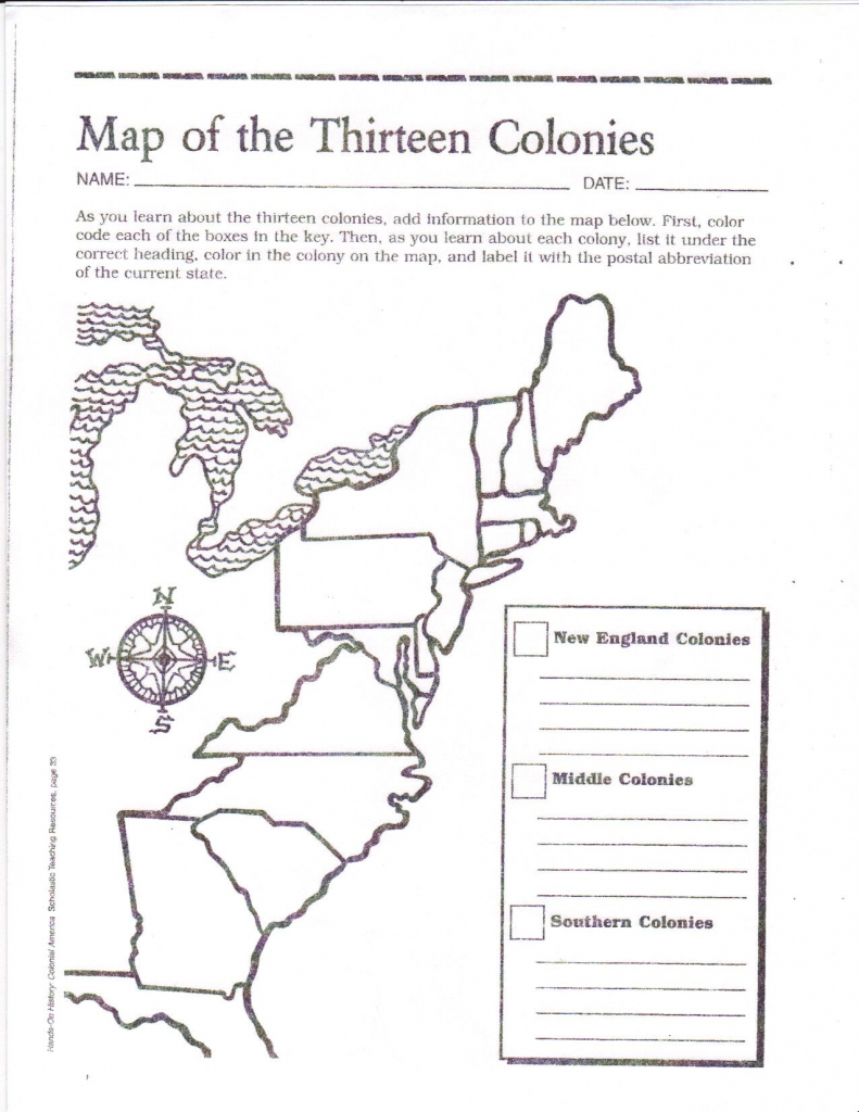 Free Printable 13 Colonies Map … | Activities | Socia… | Us Map 13 Colonies Printable