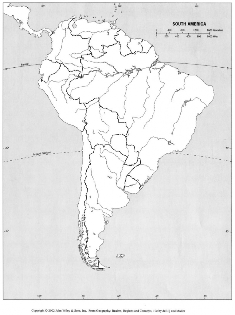 Free Printable Map Of South America And Travel Information | Printable South America Map Outline