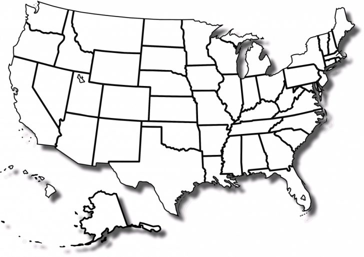 Printable Map Of Us To Color
