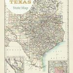 Free Printable Old Map Of Texas From 1885. #map #usa | Free | Printable Vintage Us Map