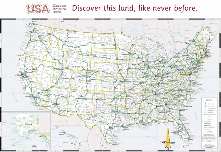 Printable Map Of The United States With Major Cities And Highways