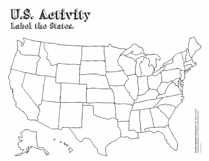 Free Printable Blank Us Map With State Outlines