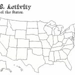 Free Printable Us Map Blank Usa52Blankbwprint Lovely Awesome Blank | Map Of 52 States In Usa Printable