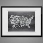 Free Printable Wall Art   Map Of Usa 8X10 | Diy Craft Ideas | 8 X 10 Printable Usa Map