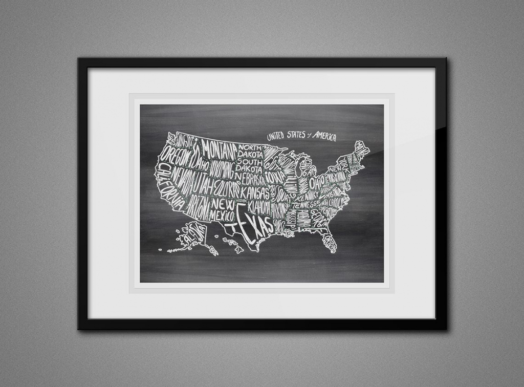 Free Printable Wall Art - Map Of Usa 8X10 | Diy Craft Ideas | 8 X 10 Printable Usa Map
