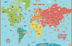 Free Printable World Map For Kids Maps And | Gary's Scattered Mind | Printable A3 Map Of Usa