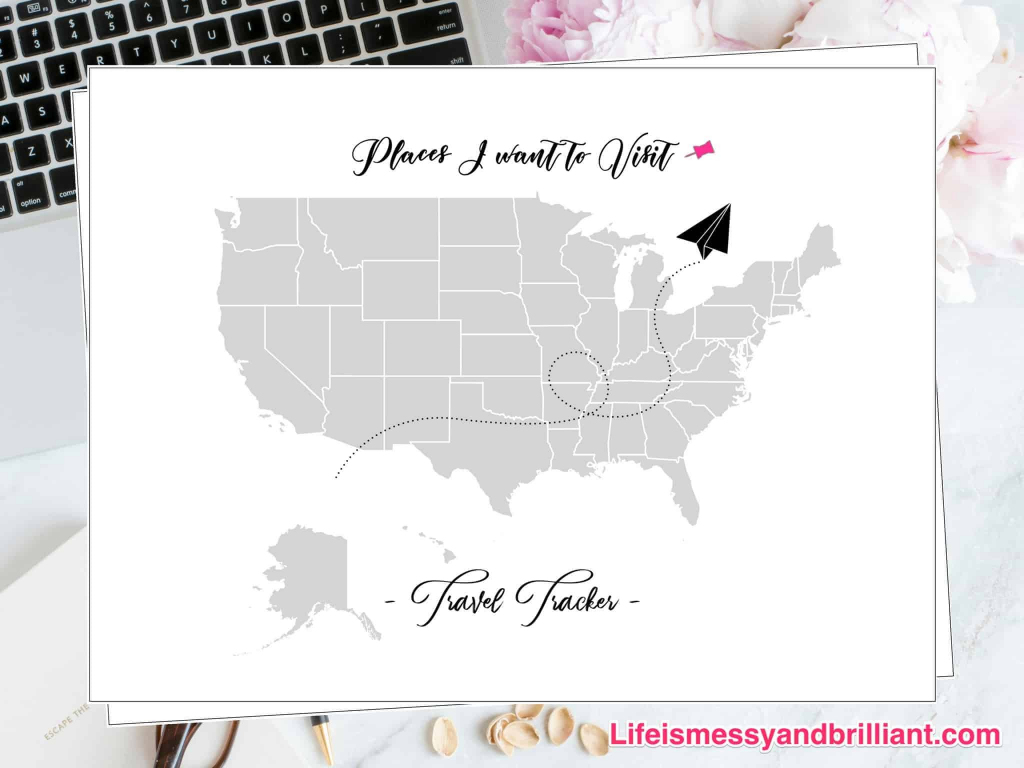 Free Travel Tracker Printable | Printable Us Travel Map