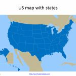 Free Us Map With States   Free Powerpoint Templates | Blank Us Map For Powerpoint