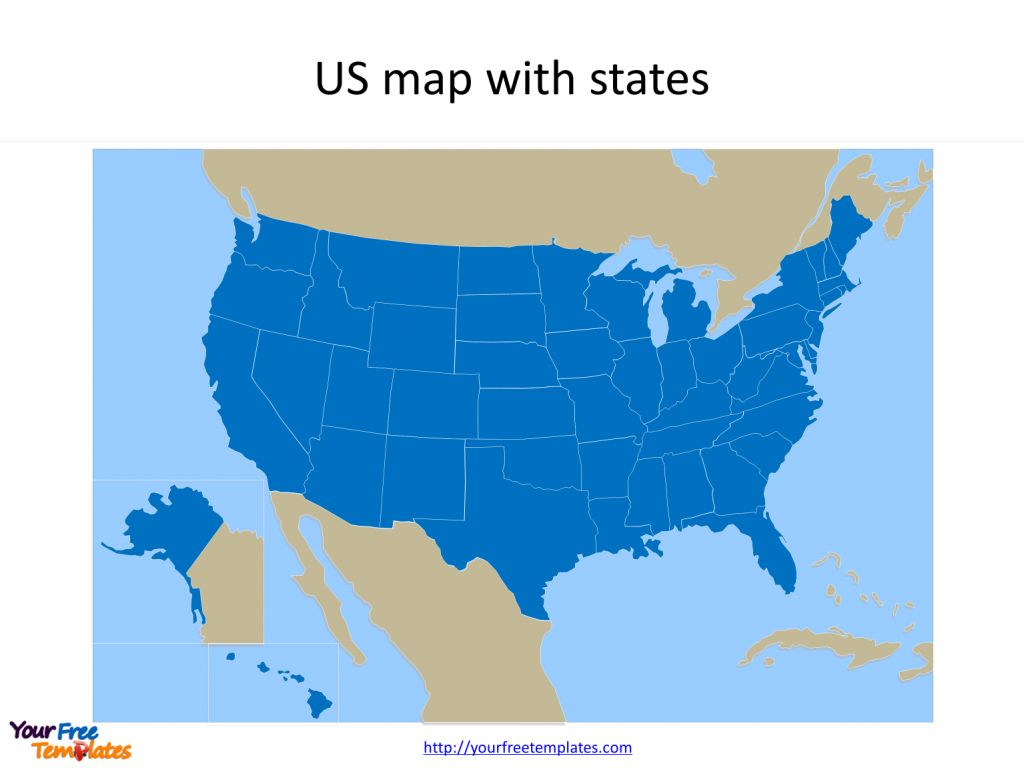 Free Us Map With States - Free Powerpoint Templates | Blank Us Map For Powerpoint