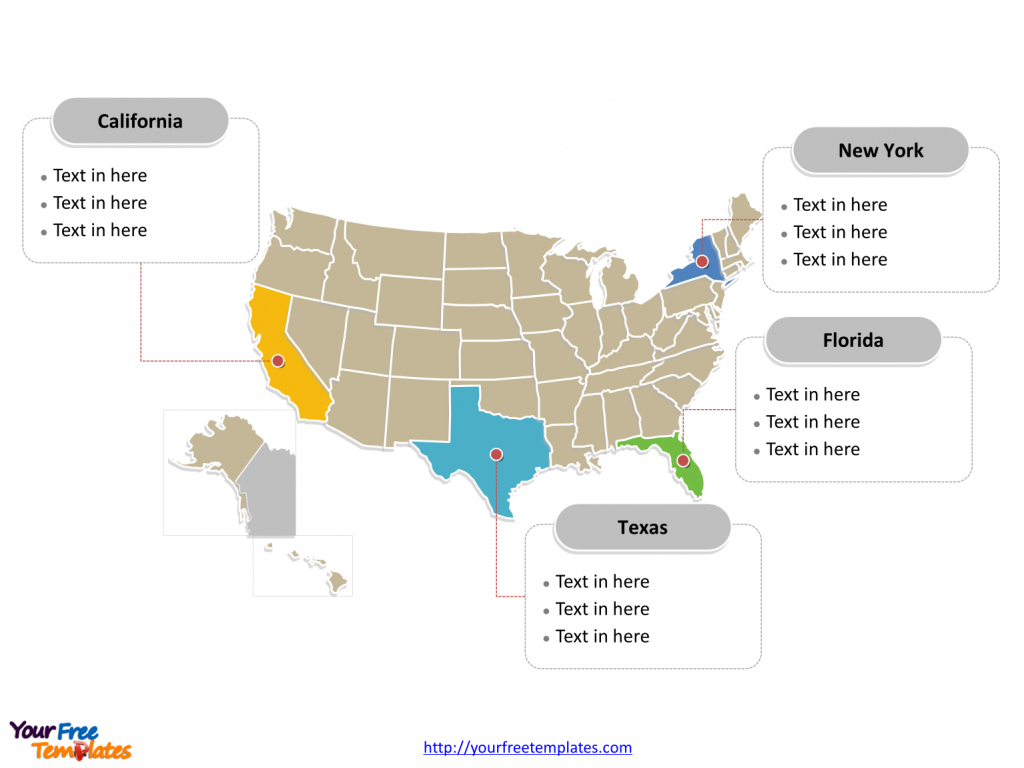 Free Usa Powerpoint Map - Free Powerpoint Templates | Blank Us Map For Powerpoint