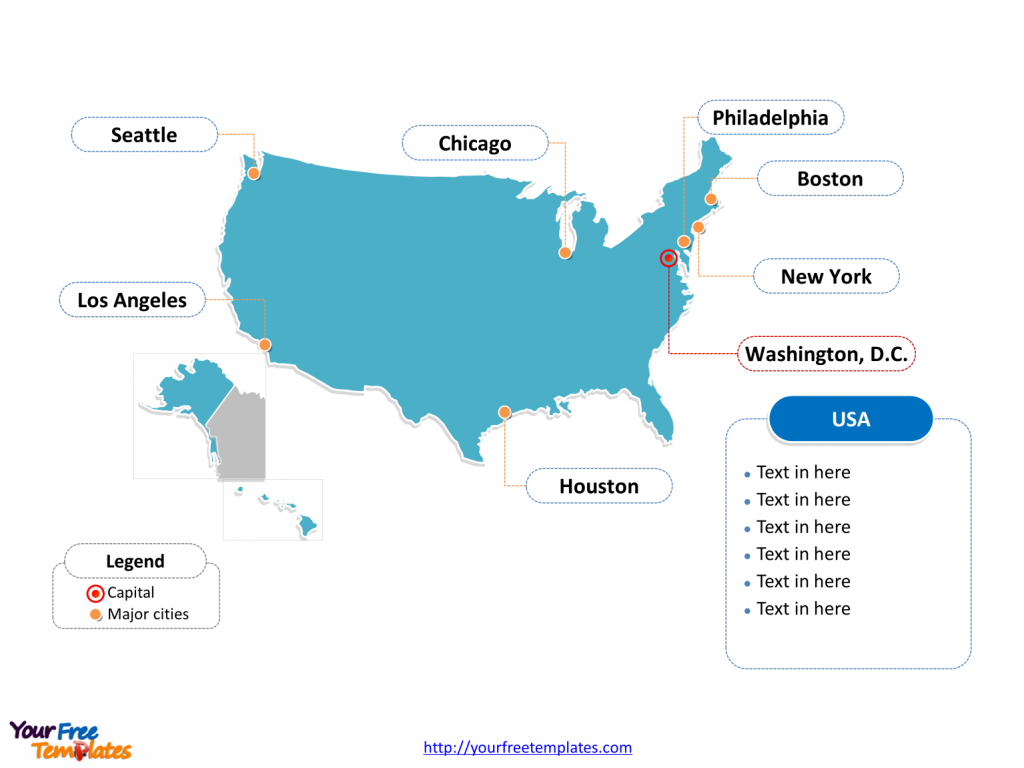 Free Usa Powerpoint Map - Free Powerpoint Templates | Printable Us Map Template