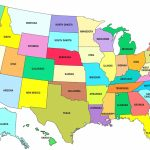 Good Colors To Color Us Map United States Coloring 1 Inspirational | Printable Us Map In Color