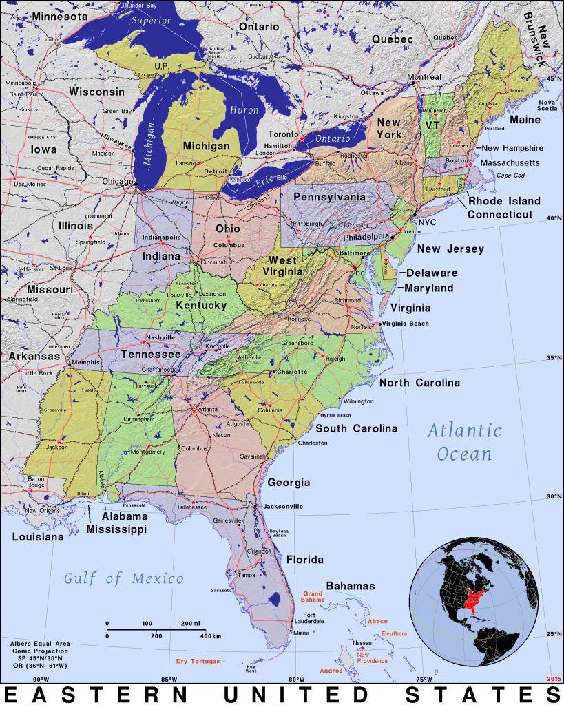 Google Maps San Andreas Fault Printable Maps Google Map Us East | Printable Map Of Usa East Coast