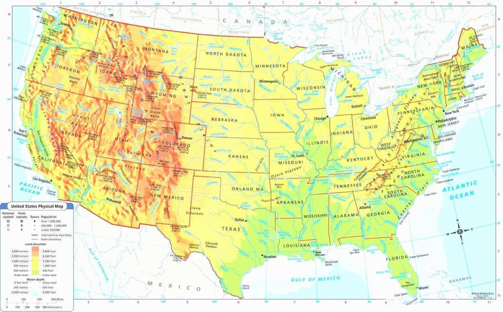 Google Maps Usa Lovely Us Physical Map Rivers In United States With | Free Printable Physical Map Of The United States