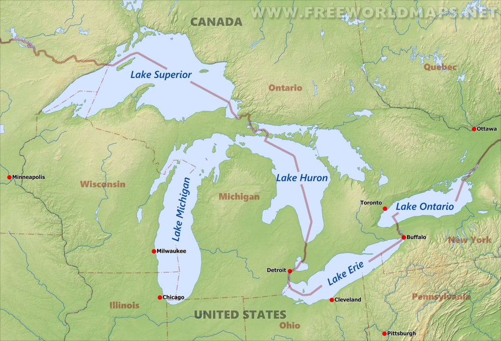 Great Lakes Hd Printable Maps Map Of United States Us With 4 | Printable Us Map With Great Lakes