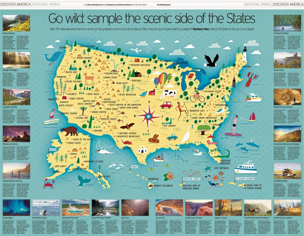 I Draw Maps: A Map Of All 59 Us National Parks For The Daily | Printable Us Map National Parks