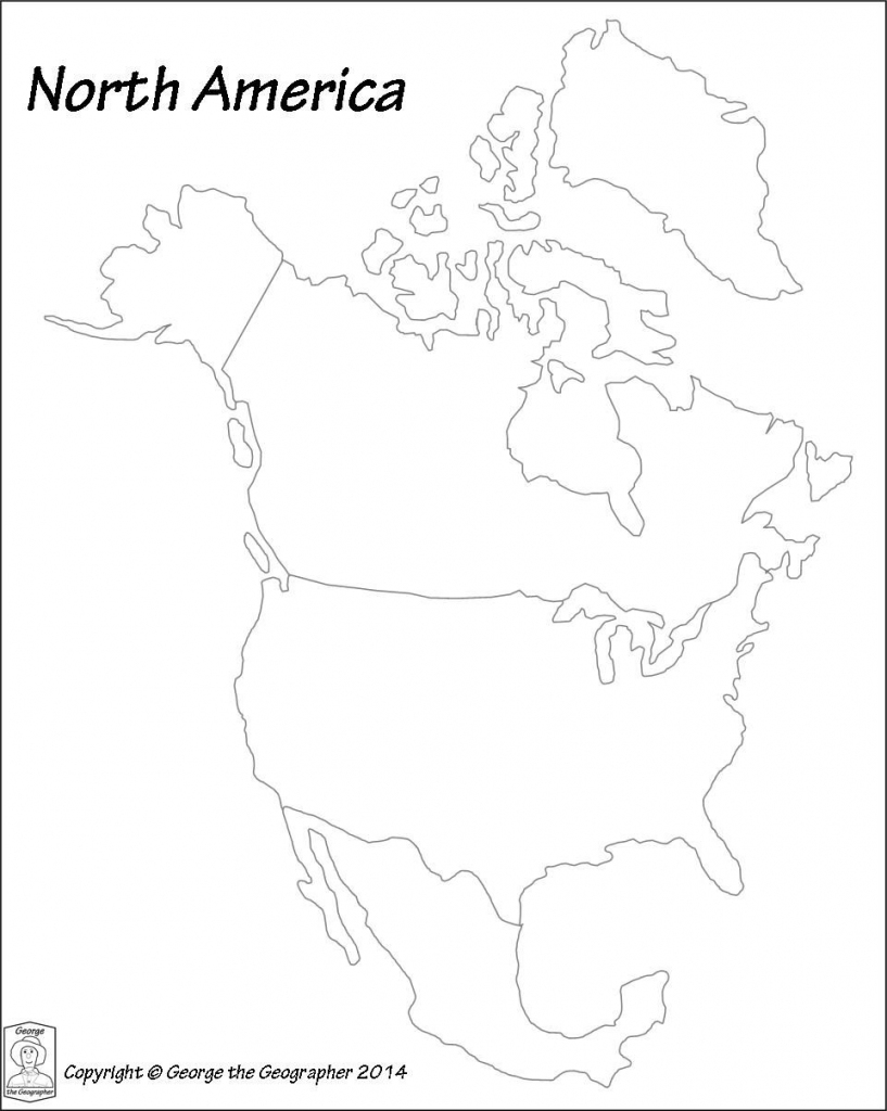 Image Result For Printable North America Continent Worksheet | Printable Map Of North America Continent