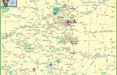 Large Detailed Map Of Colorado With Cities And Roads | Large Printable Map Of The United States With Cities