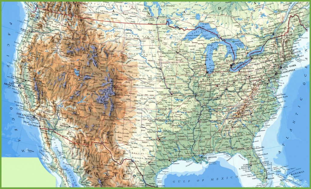 Large Detailed Map Of Usa With Cities And Towns | Printable Us Cities Map