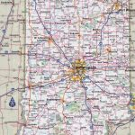 Large Detailed Roads And Highways Map Of Indiana State With All | Large Printable Road Map Of The United States