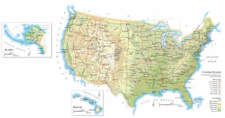 Huge Printable Map Of The United States