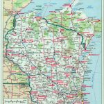 Large Roads And Highways Map Of Wisconsin State With National Parks | Large Printable Road Map Of The United States