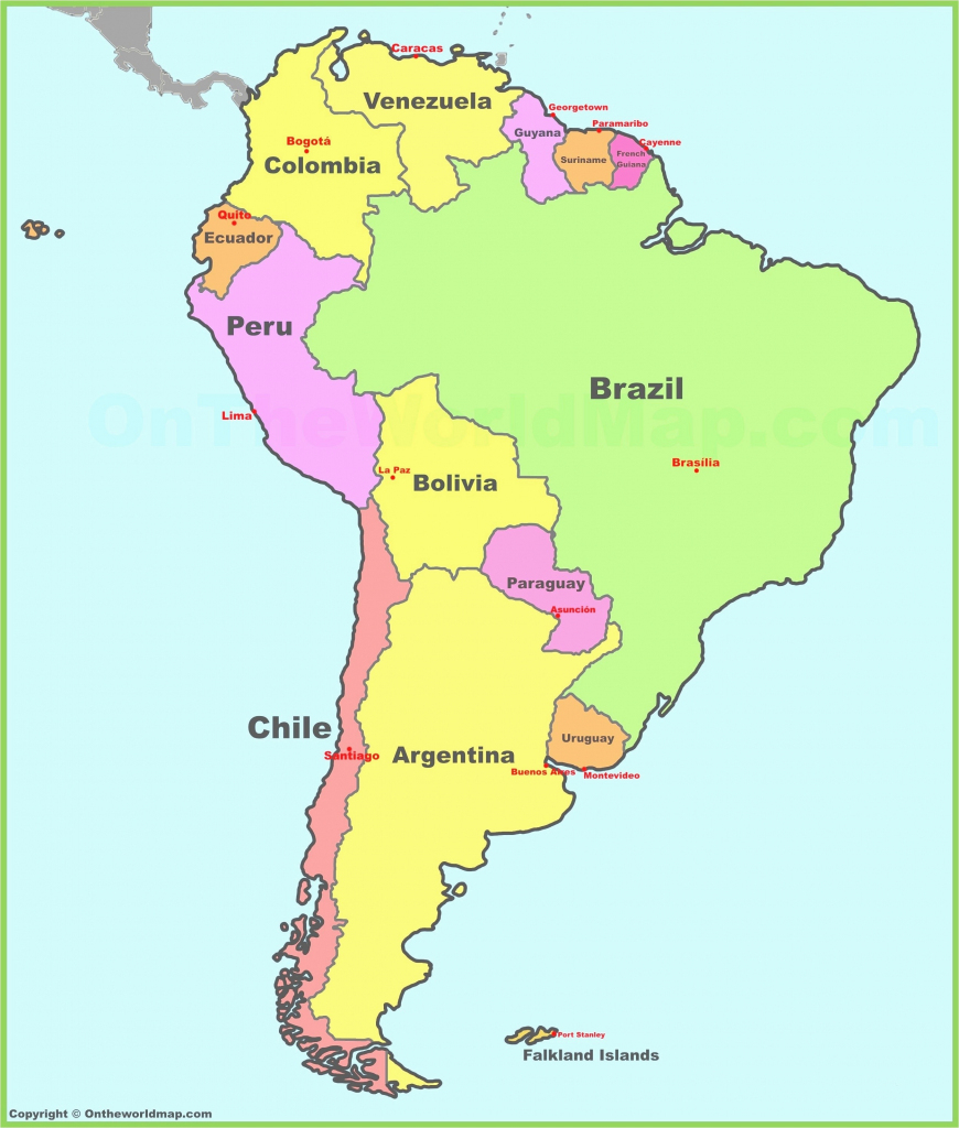 Latin America Cities Map Quiz Of Central And South Printable United | Printable Map Of Eastern United States With Cities