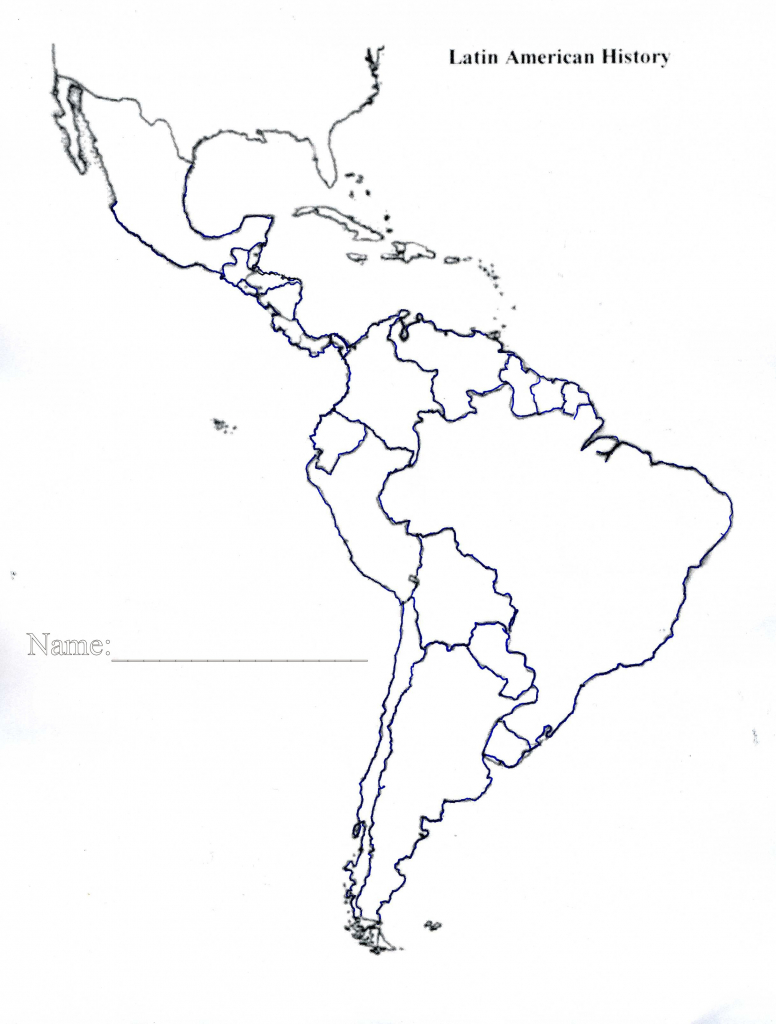 Latin America Map Quiz Printable Blank Of Us And South Central 7 | Printable South America Map Quiz