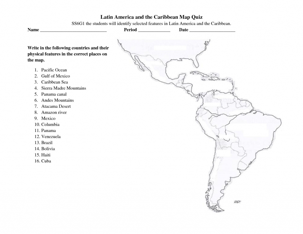 Latin America Printable Blank Map South Brazil The And Best Of Quiz | Printable South America Map Quiz