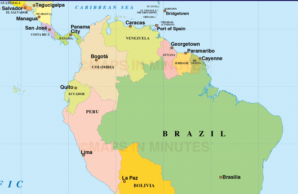 Latin American Country Map And Travel Information | Download Free | Printable Map Of Latin American Countries