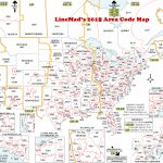 Lincmad's 2019 Area Code Map With Time Zones | Printable Us Timezone Map With Area Codes