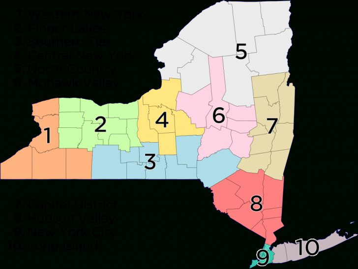 6 Regions Of The United States Printable Map
