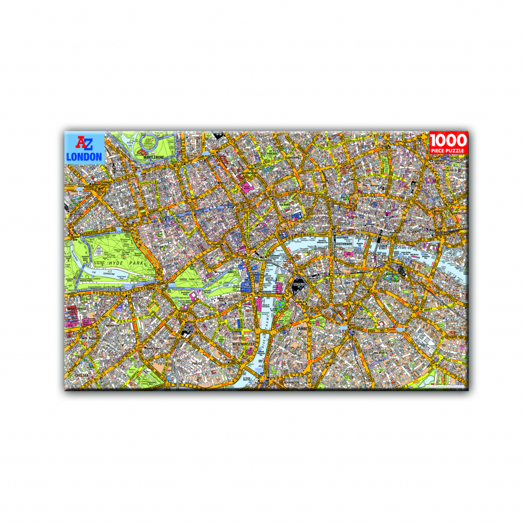 London Puzzles: London Atoz Map 1000 Piece Jigsaw Puzzlerobert | Printable Map Of Usa Jigsaw Puzzle