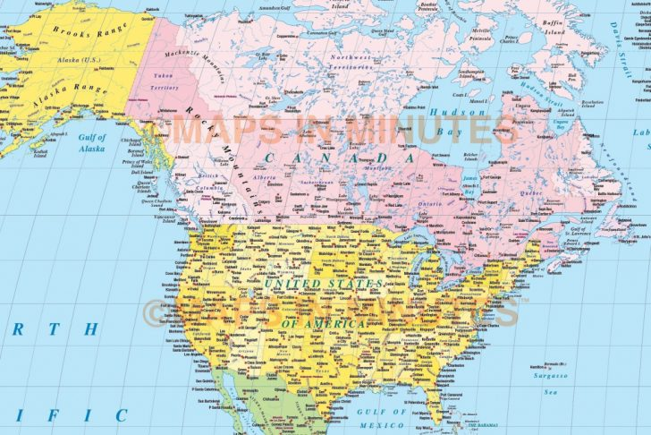 Printable Us Map With Latitude And Longitude And Cities