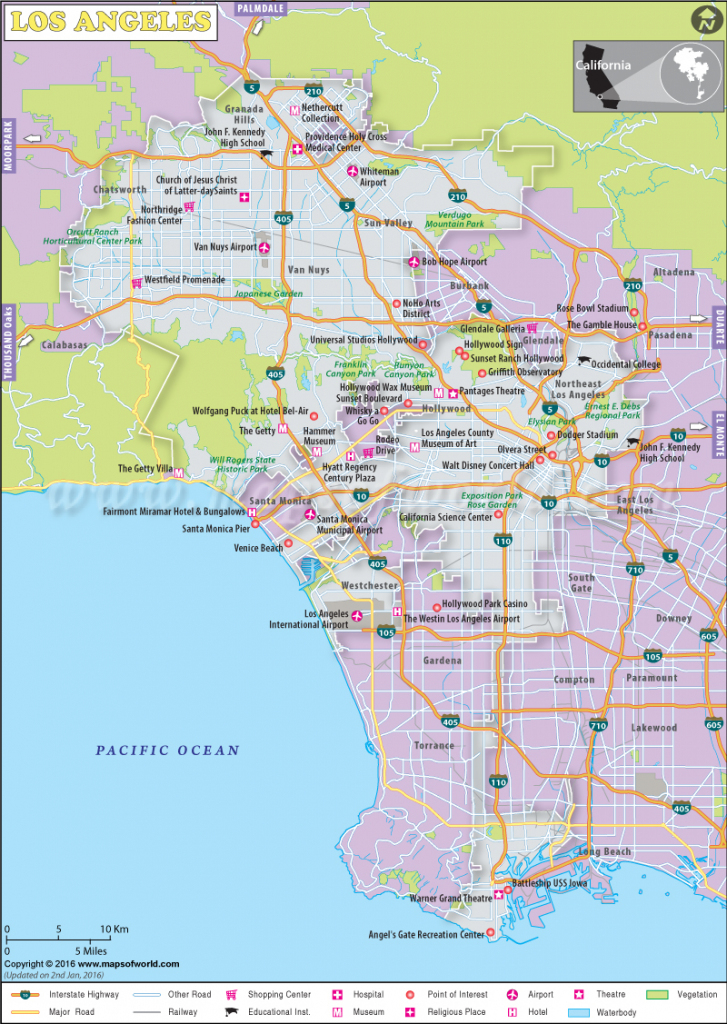 Los Angeles Map Printable Maps Los Angeles California Maps - Klipy | Printable Map Of Usa Airports