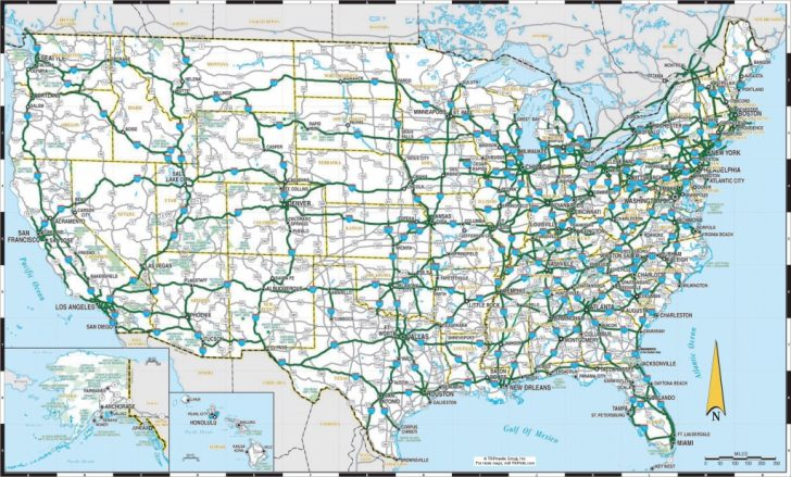 Printable Map Of Us Highways