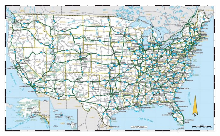 Printable Road Map Of Usa With States And Cities