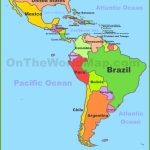 Map Of Central And South America | Printable Map Of Central American Countries