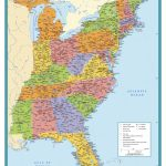 Map Of East Coast Usa States With Cities Map United States Printable | Printable Eastern Us Map
