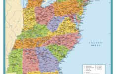Map Of East Coast Usa States With Cities Map United States Printable | Printable Map Of Eastern Us States
