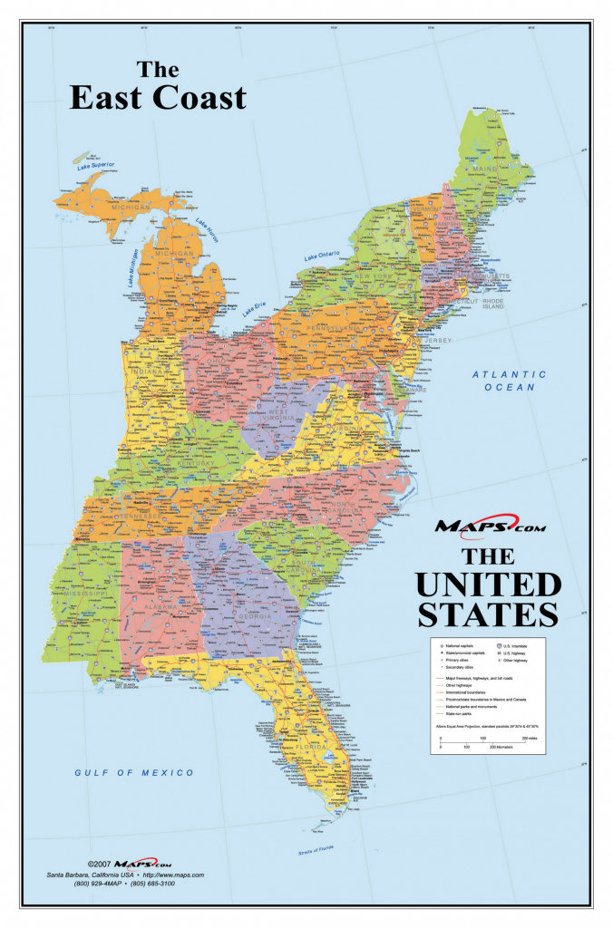 Printable Map East Coast Usa