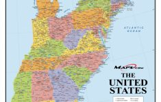 Map Of Eastern United States Printable Interstates Highways Weather | Printable Map Of The United States With Highways