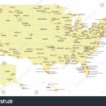 Map Of Major Airports In Us Showing Stock Vector International The | Printable Map Of Usa Airports