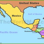 Map Of Mexico And Central America | Printable Map Of Central American Countries