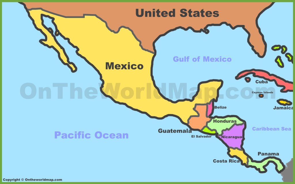 Map Of Mexico And Central America   Printable Map Of Central American Countries