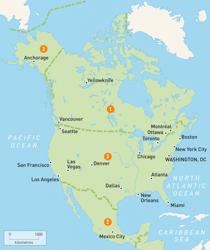 Map Of North America | North America Countries | Rough Guides | Printable Map Of North American Countries