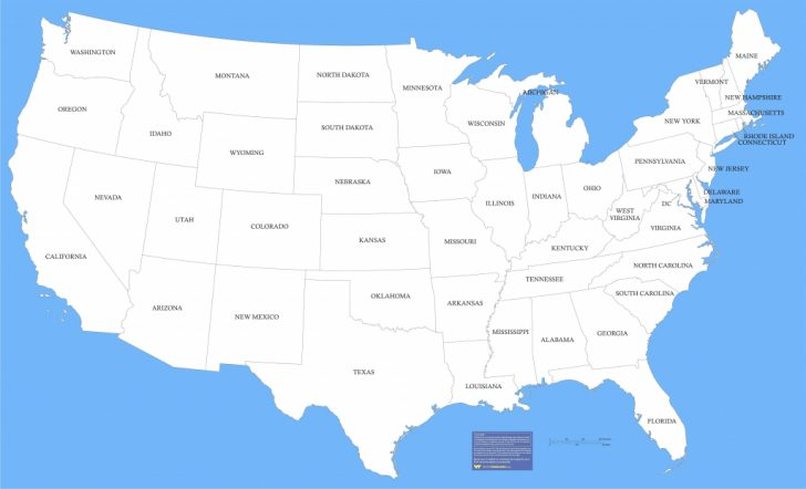 Printable United States Map With State Names To Color
